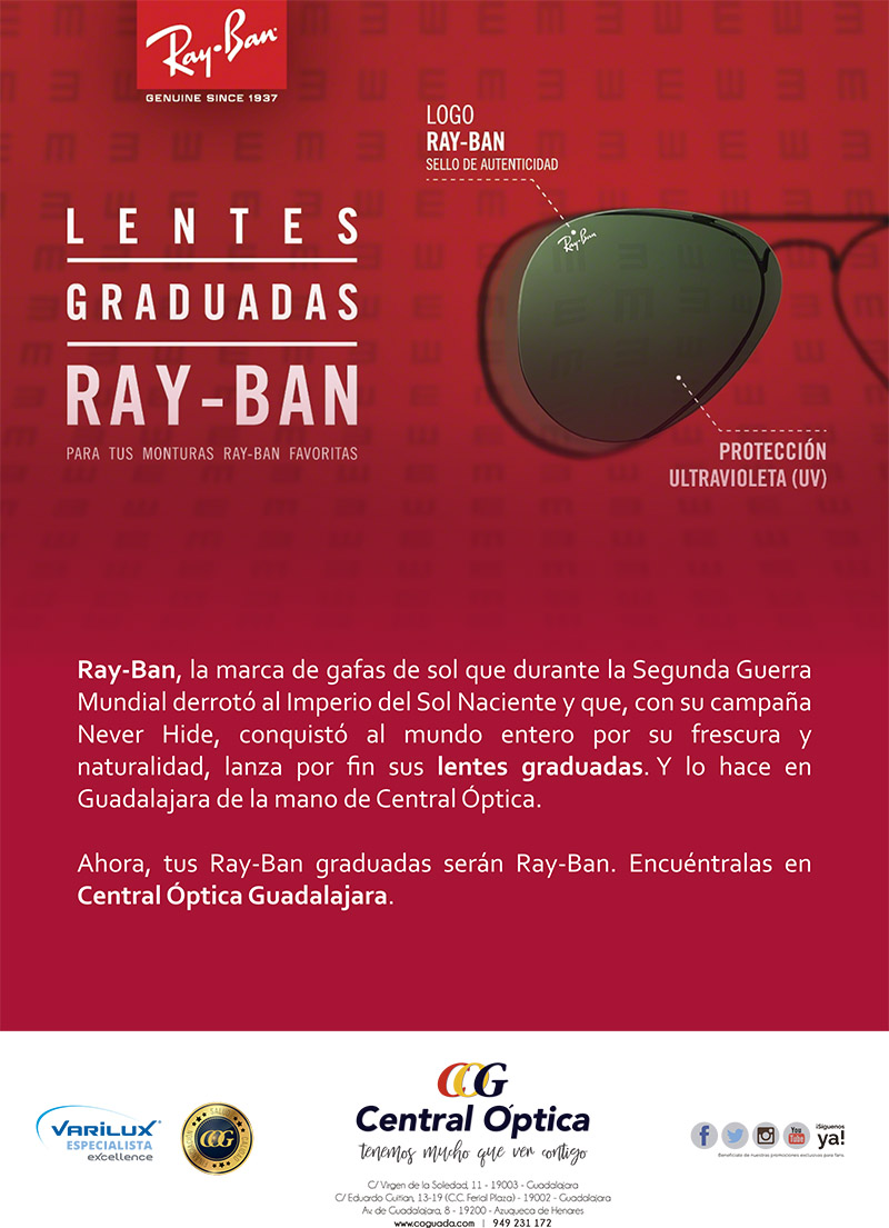 4d01cb9bf5 Lentes graduadas Ray-Ban: el hit del verano - Central Óptica Guadalajara