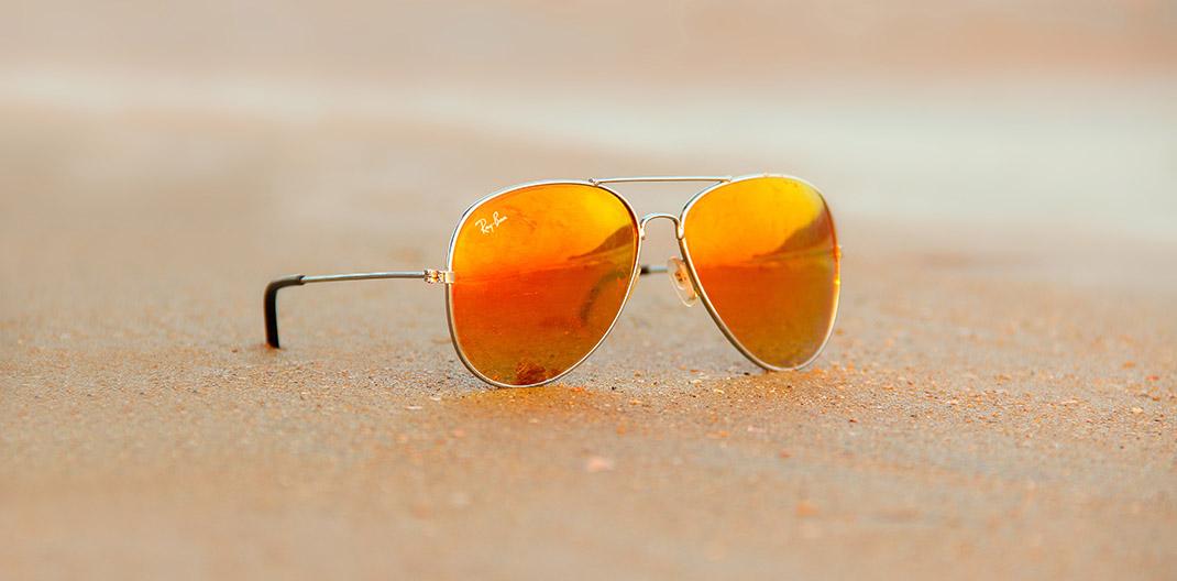 Gafas Ray-Ban en la playa