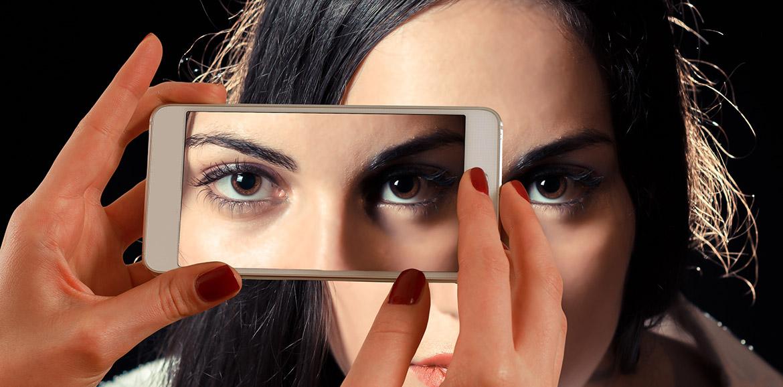 Ojos capturados en móvil