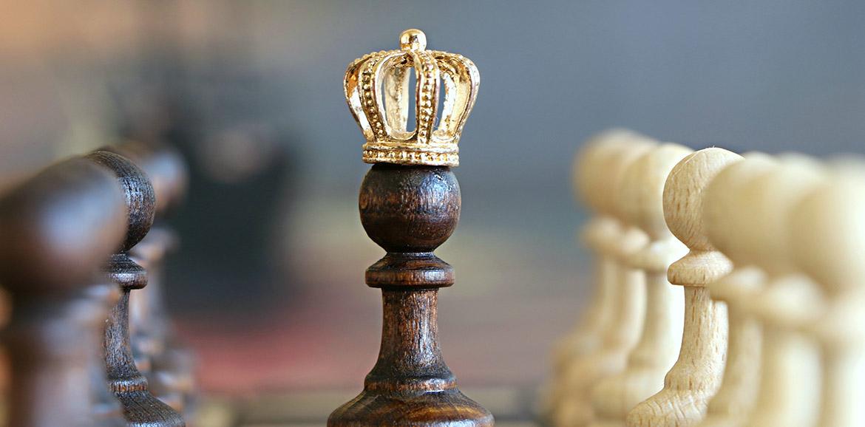 Peón con corona